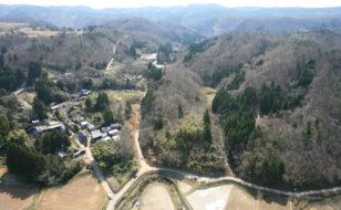 笹川集落(北から)