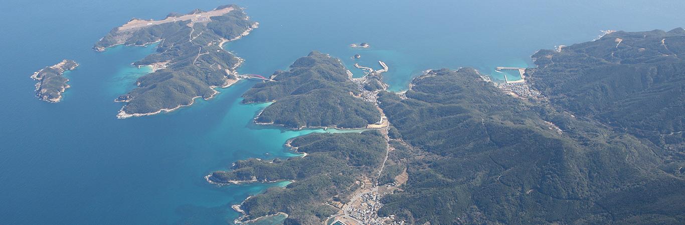 新上五島町崎浦の五島石集落景観