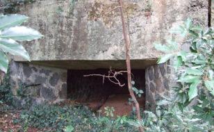 本土決戦に備えて築かれた名切砲台