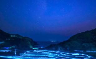 平戸市春日集落の棚田ライトアップ